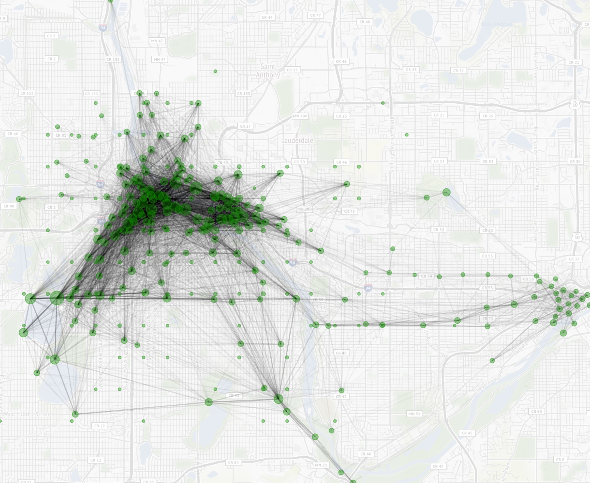 Visualizing Bike Share Data (NiceRide)